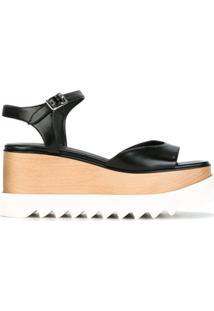 Stella Mccartney Sandália Com Plataforma - Preto