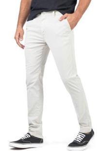 Calça De Tecido Chino Flex Chino Taco Masculina - Masculino-Off White