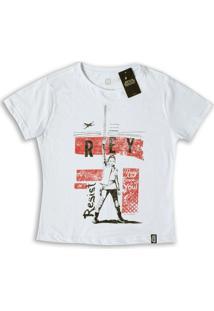 Camiseta Feminina Star Wars Rey Resist - Feminino-Branco