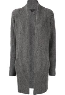 James Perse Cardigan Com Abertura Frontal - Cinza
