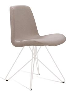 Cadeira Eames Com Base Butterfly Coral E Branca Daf - Bege - Dafiti