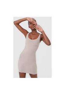 Vestido Liz Curto Invisible Bege