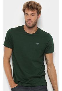 Camiseta Ellus 2Nd Floor Co Basic Masculina - Masculino-Musgo