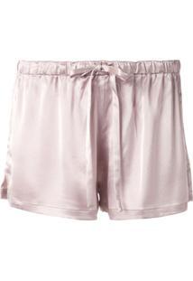Goodious Short Cintura Baixa De Cetim - Rosa
