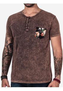 Camiseta Marmorizada Bolso Floral 102400