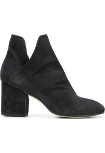 Officine Creative Ankle Boot De Couro Com Salto - Preto