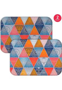 Jogo Americano Love Decor Geometric Abstract Mandalas Colorido