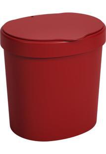 Lixeira 2,5 Litros Vermelho Bold Coza