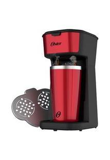 Cafeteira Oster 2Day Red 2 Em 1 Com Copo Térmico 110V