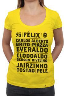 Brasil Mexico 70 - Camiseta Clássica Feminina