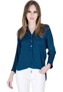 a3be3591ff Camisa Gola Padre feminina. Camisa Básica Handbook - Feminino-Azul