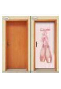 Adesivo Decorativo De Porta - Ballet - Bailarina - 2052Cnpt