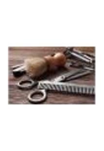Painel Adesivo De Parede - Barbearia - Barber Shop - 1105Pnm