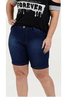 Bermuda Feminina Jeans Cintura Média Plus Size Biotipo