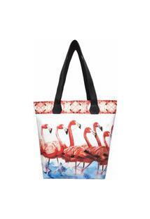 Bolsa Tropical Feminina Flamingos Vermelhos, Magicc
