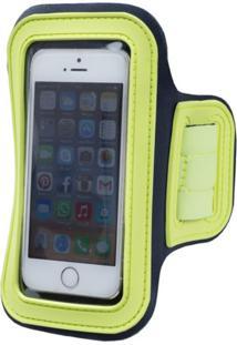 Braçadeira Skyhill Porta Celular Iphone 6 Cinza Com Verde Fluor