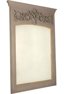 Espelho Decorativo Clássico Vernon De Parede Com Moldura De Madeira
