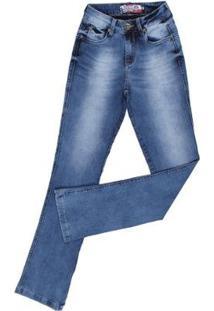 Calça Jeans Rodeo Western Manchada Feminina - Feminino