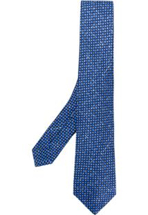 Kiton Gravata Com Padronagem - Azul