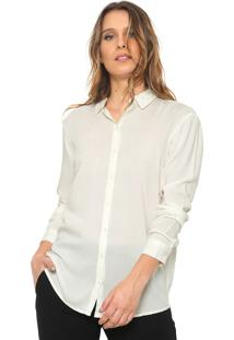 Camisa Jdy Recortes Off-White