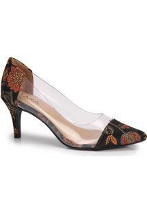 Sapato Scarpin Bico Fino Lara Lurex