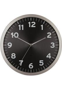 Relógio De Parede Anytime 32 Cm Preto