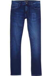 Calca Premium Dark Blue Selvedge Denim (Jeans Escuro, 46)