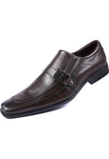 Sapato Social Pisa Forte Sintético Marrom