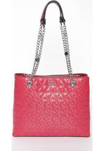 Bolsa Texturizada Com Correntes - Rosa - 25,5X31X10Cguess