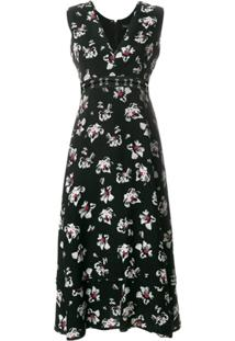 Proenza Schouler Vestido Midi Floral - Preto