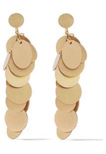 Lia Di Gregorio 18Kt Yellow Gold Pianino Hanging Earrings - Dourado