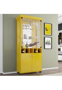 Cristaleira Monza Amarelo - Bechara Móveis