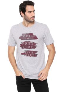 Camiseta Iódice Lettering Cinza