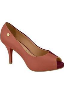 Sapato Scarpin Vizzano Bicolor Salto Alto 1781876 - Feminino