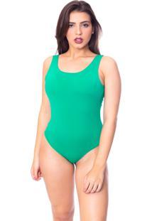 Body Moda Vicio Regata Com Bojo Decote Costas Com Elástico Verde Militar - Kanui