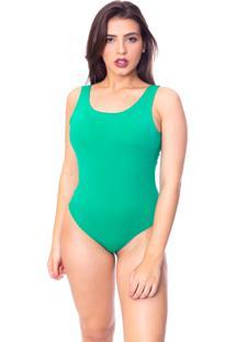 Body Moda Vicio Regata Com Bojo Decote Costas Com Elástico Verde Militar