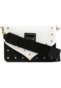 Versace Jeans Couture Bolsa Transversal Com Tachas E Spikes - Preto