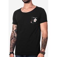 5f87eb327f Camiseta Bolso Hibiscos 101427