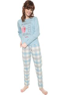 Pijama Pzama Perfect Couple Azul/Off-White