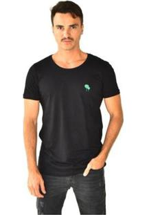 Camiseta Brohood Seeds Carnauba Masculina - Masculino-Preto+Bege