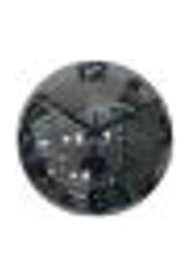 Relógio De Parede Decorativo Espelhado Cinza Metal 28X28X10