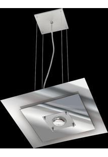 Pendente Saturno Aluminio E Vidro Lmq 132 Escovado Espelhado Bivolt