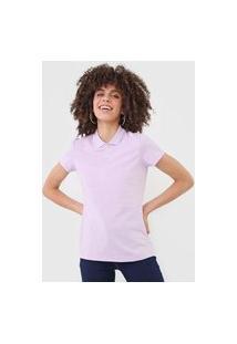 Camisa Polo Malwee Lisa Lilás
