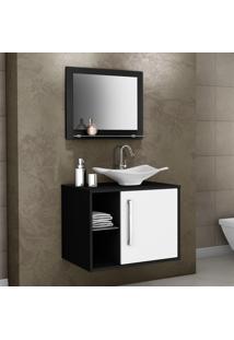 Conjunto Para Banheiro Baden Preto/Branco - Bechara Móveis