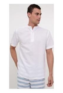 Camiseta Gola Padre Manga Curta masculina. Camisa Bata Comfort Em Voal 72b7e73237ce9