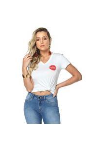 T-Shirt Daniela Cristina Gola V 08 602Dc10314 Branco