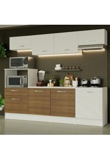 Cozinha Completa Madesa Onix 240003 Com Armário E Balcão - Branco/Rustic 099B Branco