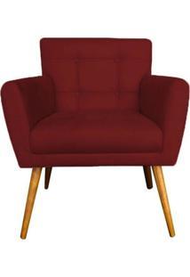 Poltrona Decorativa Onix Suede Vermelho - Ds Mã³Veis - Vermelho - Dafiti