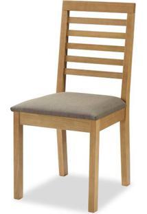 Cadeira Navagio Encosto Ripado Assento Estofado Marrom 90Cm - 59605 - Sun House