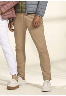 Calça Masculina Básica Skinny Em Tecido De Algodão Hering